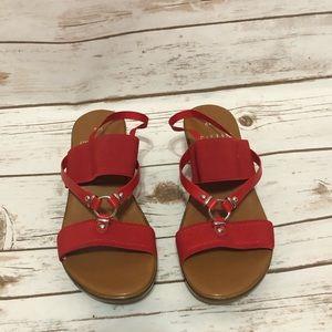 Italian Shoemakers Wedge Sandal Shoe RED